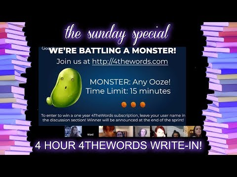 FOUR HOUR 4THEWORDS THEMED WRITE-IN!