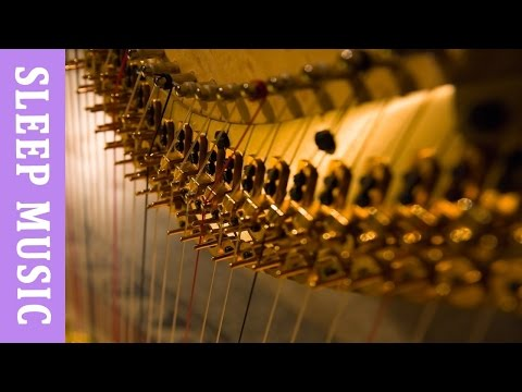Harp music with soft white noise for sleep: meditation music, music for baby,  yoga music,