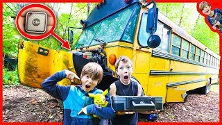 FOUND SECRET TRACKING DEVICE INSIDE ABANDONED SCHOOL BUS! (Spy Gadgets In Real Life)