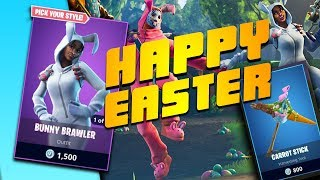 HAPPY EASTER - FORTNITE BATTLE ROYALE 160+ WINS - EASTER BUNNY SKINS - PS4 LIVE