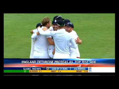 England dethrones Proteas off the top of ICC Test Rankings
