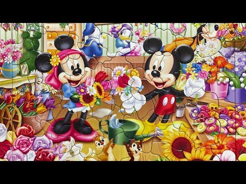 Mickey Mouse Puzzle A nice flower shop! Disney  ミッキーマウス  パズル  すてきなお花屋さん!  ディズニー