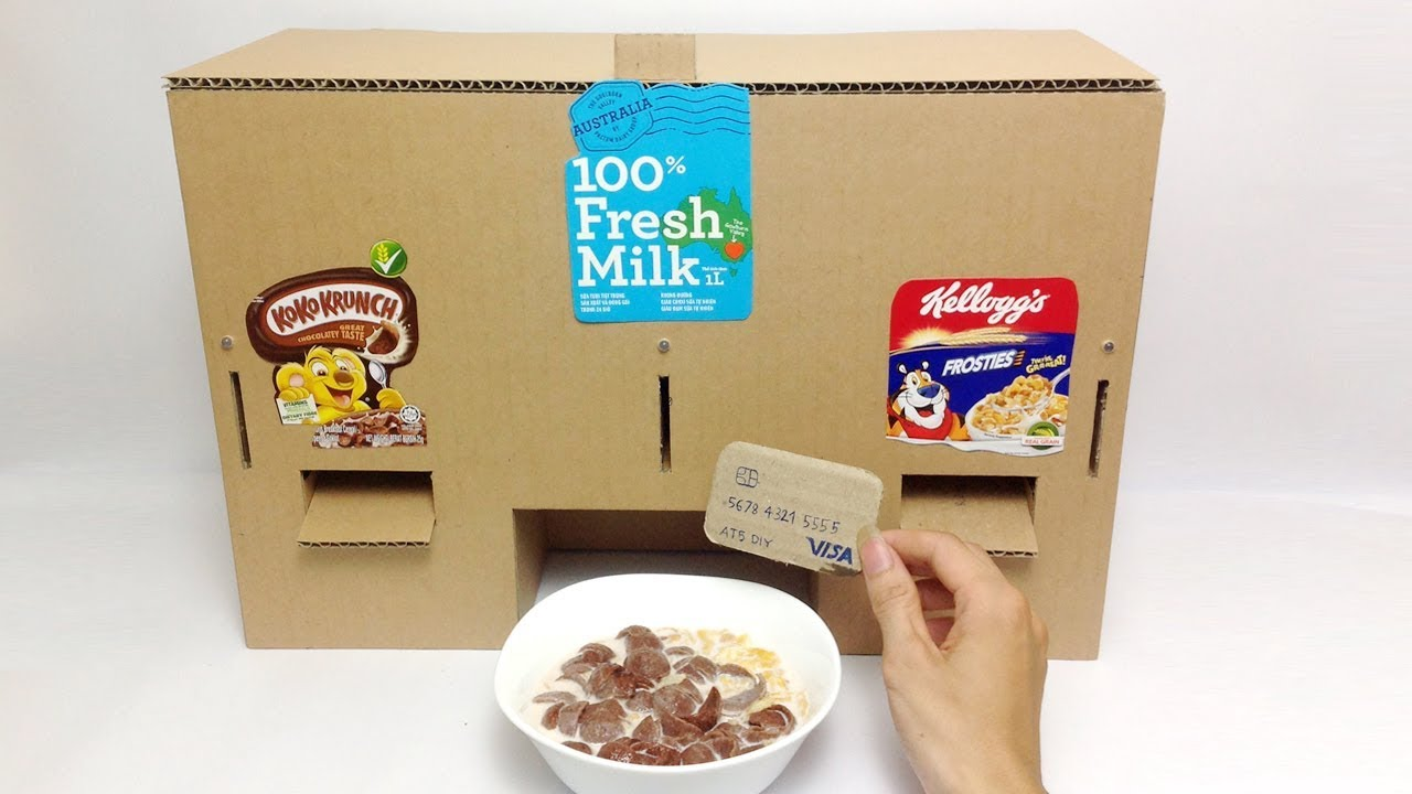 Diy koko krunch kelloggs and milk machine dispensers youtube diy koko krunch kelloggs and milk machine dispensers ccuart Image collections