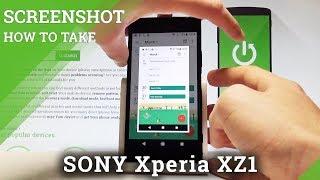 How to Take Screenshot in SONY Xperia XZ1 - Capture Screen |HardReset.Info