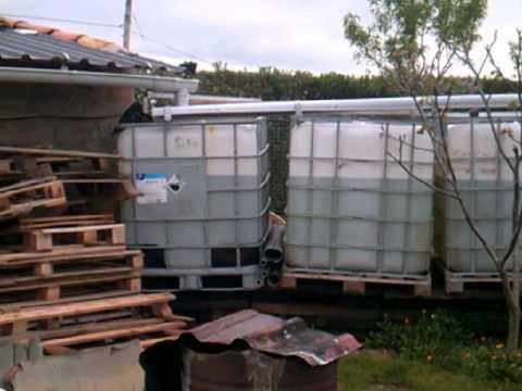 Como recolectar agua de lluvia para riego barato y facil - Recoger agua lluvia ...