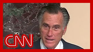 """Senator mitt romney (r-ut) called the riots at us capitol """"an insurrection incited by president of united states,"""" while addressing his colleague..."""