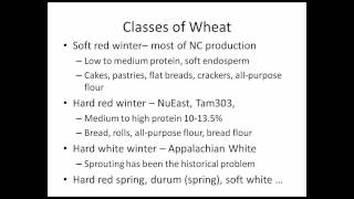 Wheat Varietal Selection for Organic Farms in North Carolina