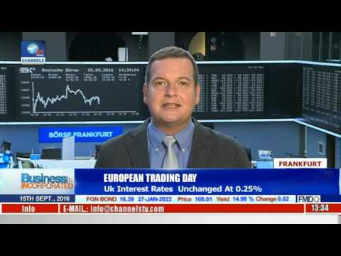 Business Incorporated: European Stock Markets Updates As UK Rates Remain Unchanged