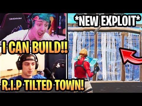 Streamer shows NEW EXPLOIT That Lets you *BUILD* in Tilted Town! (Fortnite Season 10 Moments)