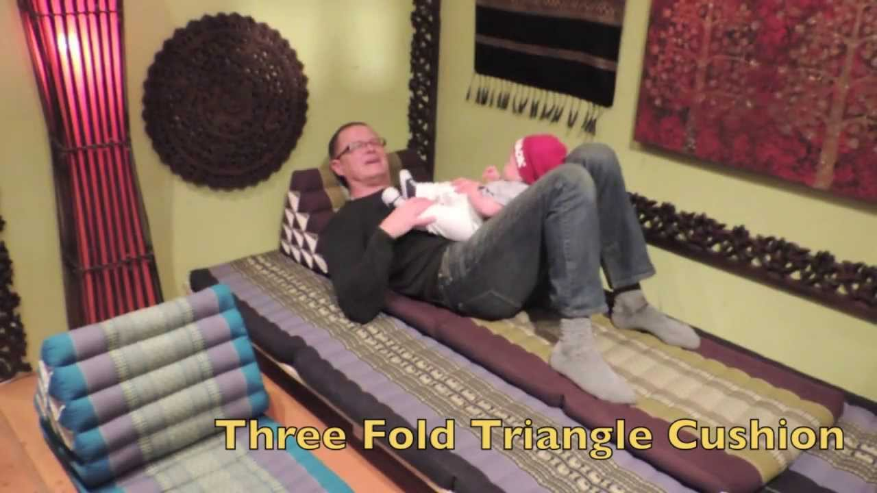 spirithouse - Three Fold Triangle Cushion - YouTube