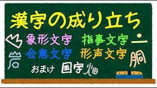 漢字の成り立ちの歌(象形文字・指事文字・会意文字・形声文字) - YouTube