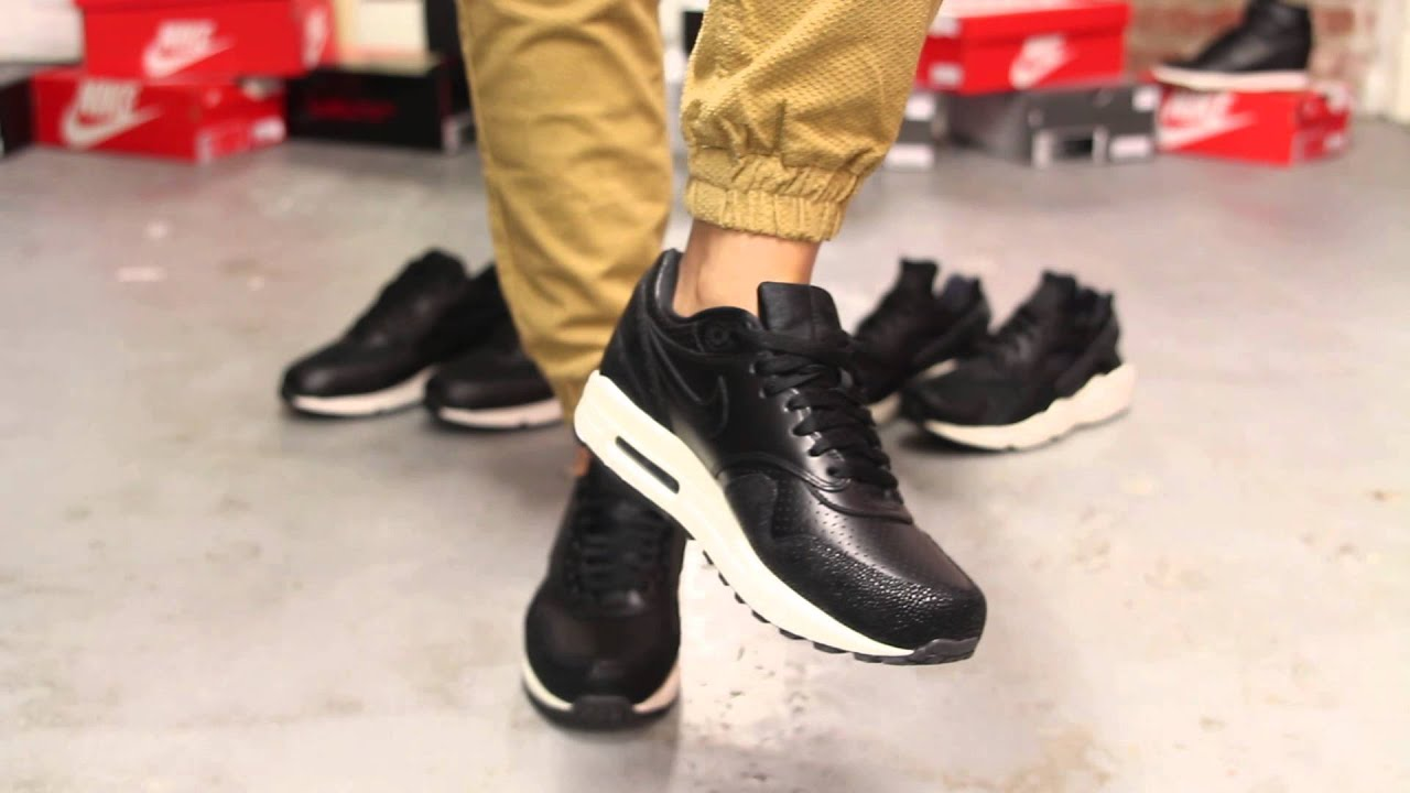 57f84b5feebfaf nike air max 90 black leather on feet