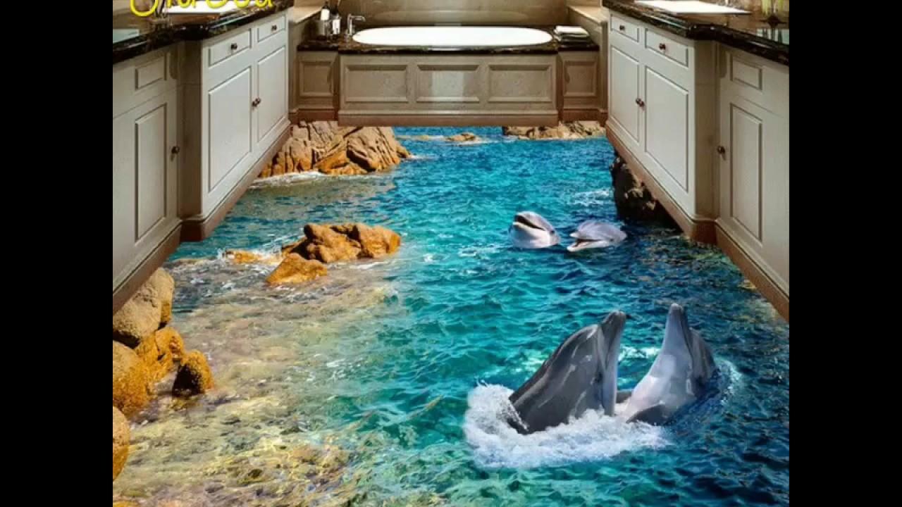Amazing 3d Floor Tiles Design For Bedroom Bathroom Or Kitchen Youtube