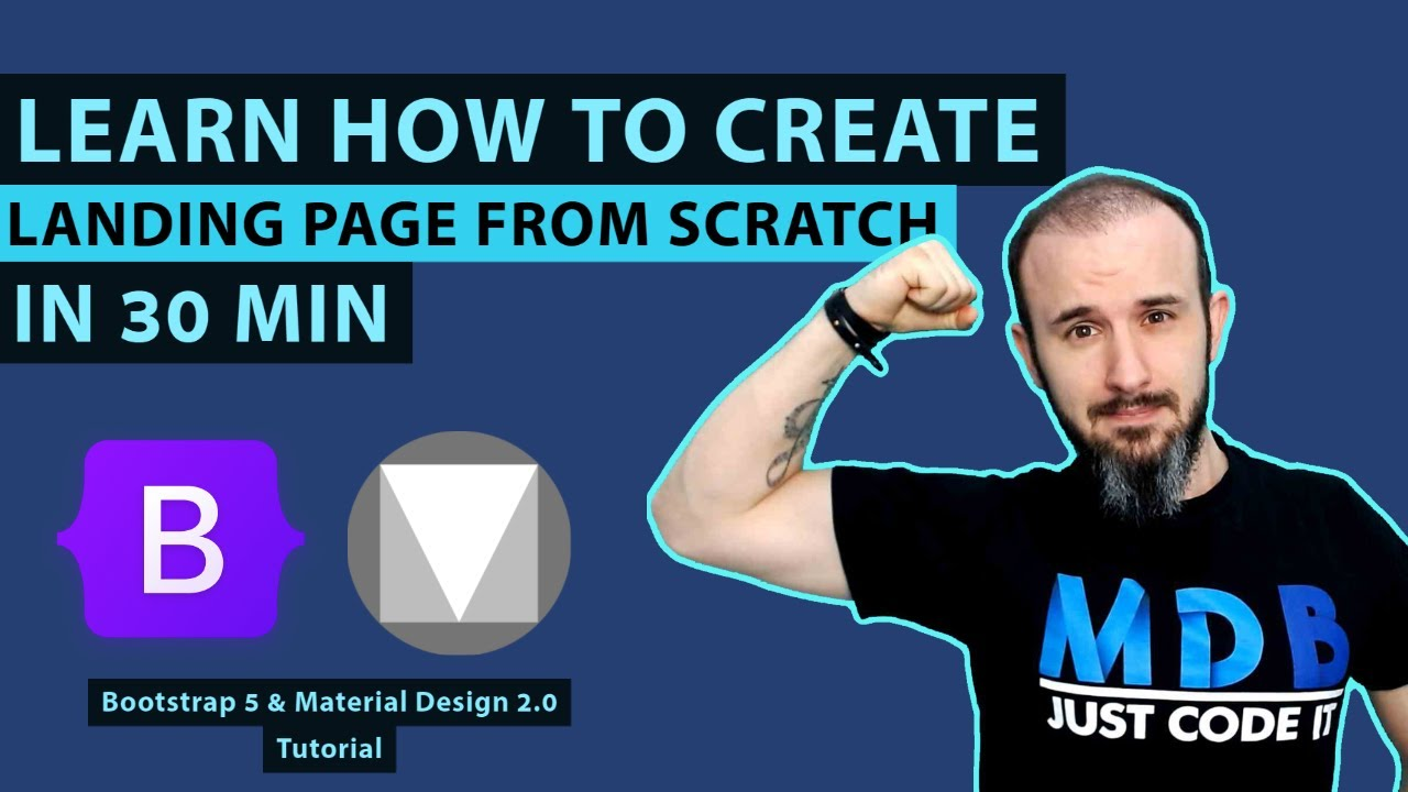 Landing Page with Bootstrap 5 & Material Design 2.0 (MDB 5 tutorial)