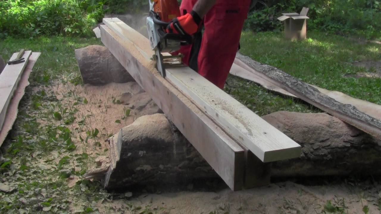Haddon Lumbermaker Chainsaw Lumber Mill Saw For Boards Beams Planks And Milling
