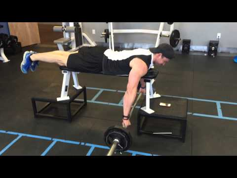 Prone Barbell Row