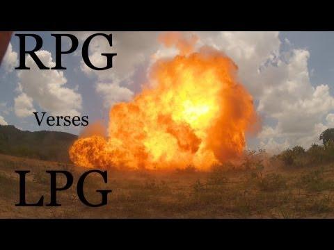 RPG vs LPG ( Propane Gas Bottle )
