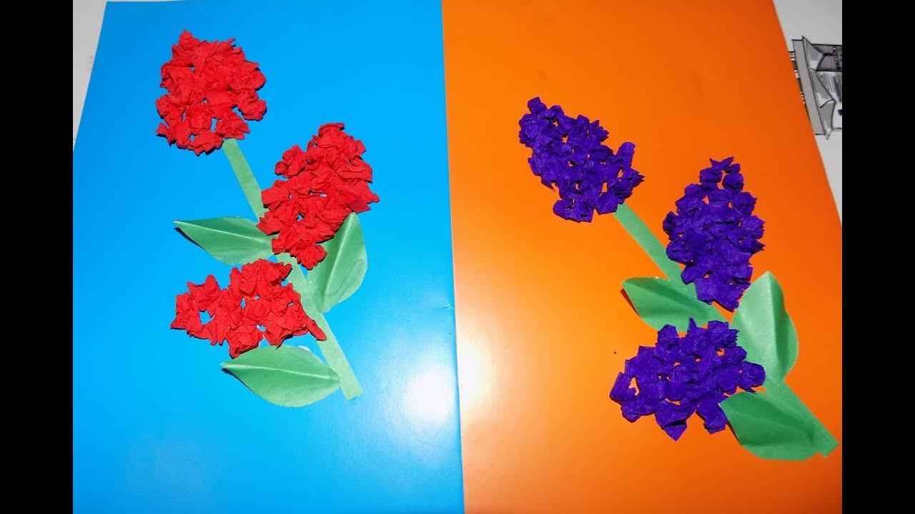 схема бумаги цветок аппликация из