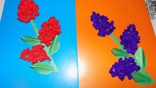 аппликация из бумаги(аппликация из бумаги 3 - 4 года. Цветок на 8 марта для мамы. аппликация детский сад., 2016-03-07T14:36:25.000Z)