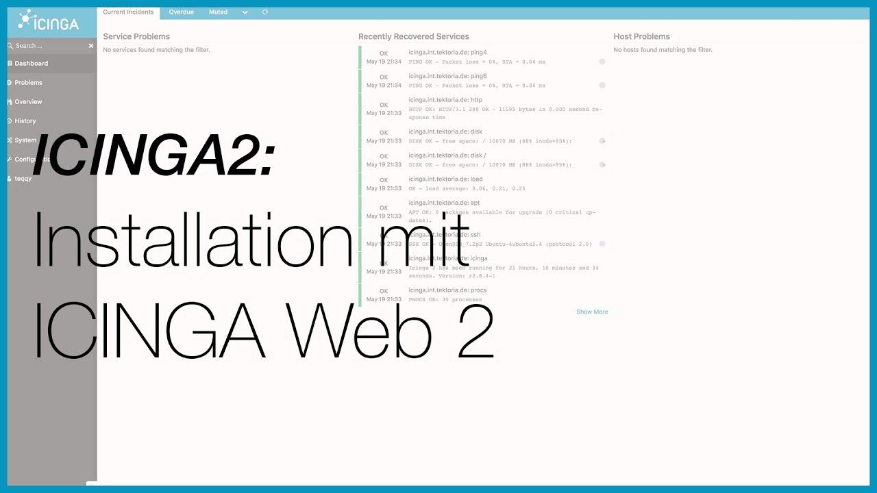 ICINGA2 und ICINGA Web2 installieren - Tutorial deutsch