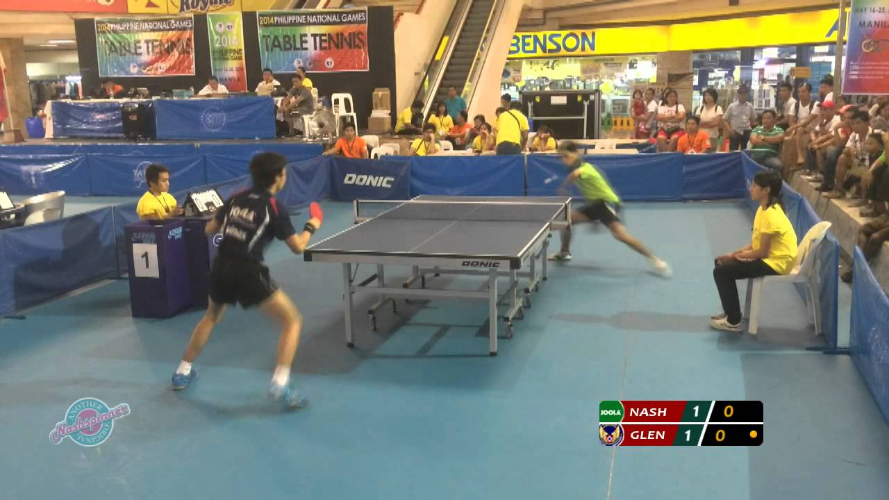 2014 Philippine National Games Table Tennis Youtube