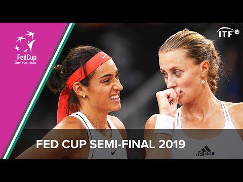 France Vs Romania  | Fed Cup 2019 | Semi Final Highlights