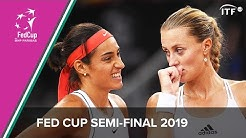 France vs Romania  | Fed Cup 2019 | Semi Final Highlights