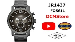 JR1437 Fossil Nate Chronograph Gray Smoke ..... DCMStore