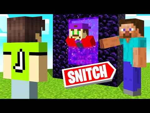 Playing SNITCH HIDE AND SEEK In MINECRAFT!