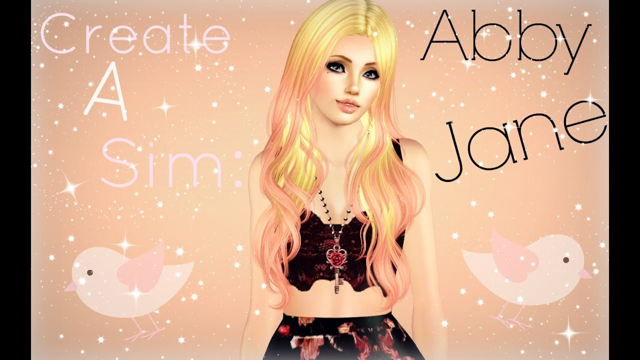 the sims 3 create a sim diva inspired abby jane jnh781 contest entry youtube. Black Bedroom Furniture Sets. Home Design Ideas