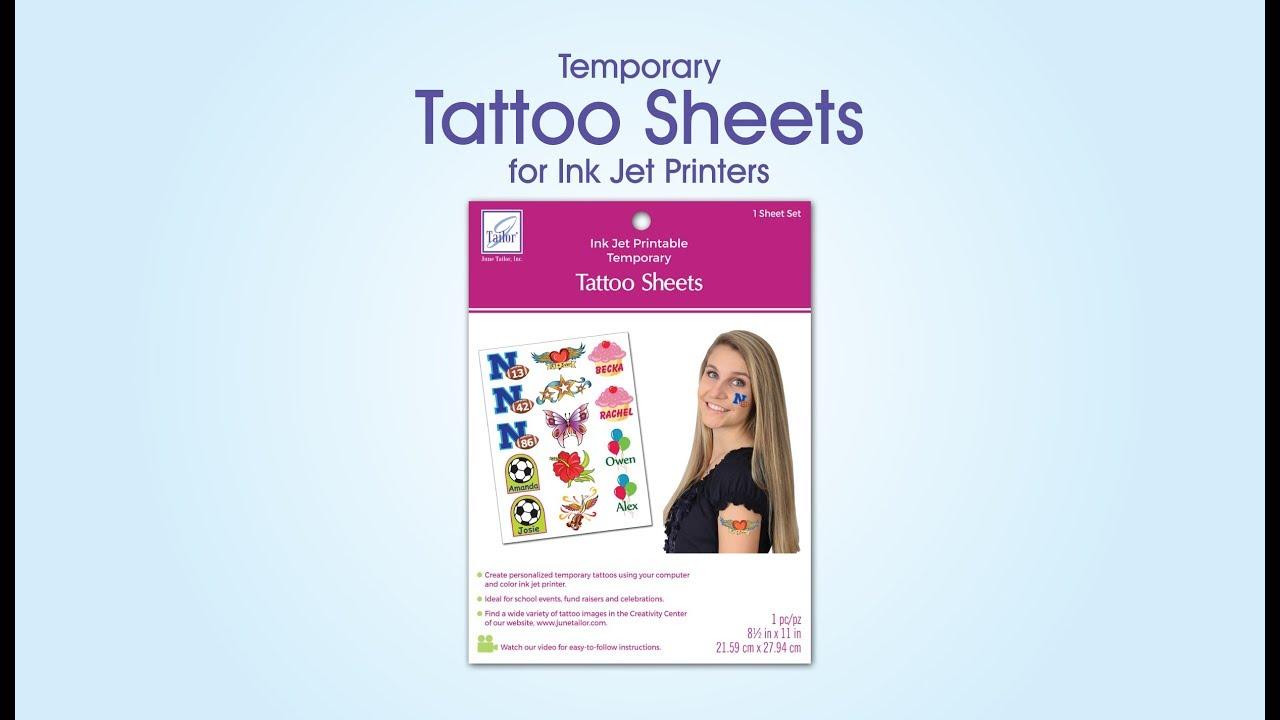 Temporary Tattoo Sheets - YouTube
