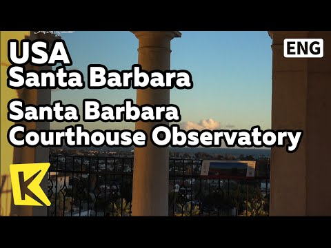 【K】USA Travel-Santa Barbara[미국 여행-샌타바버라]카운티 법원 전망대/Observatory/Panorama/Wedding place/Courthouse