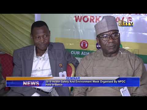 2019 health safety and environment week organised by npdc held in Benin