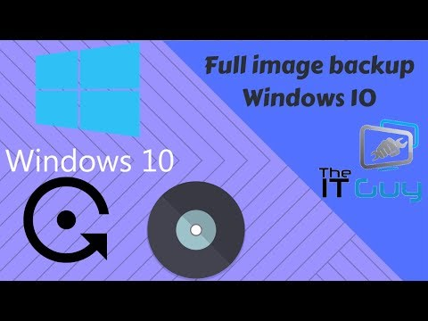 Full Disk Image Backup In Windows 10 (no 3rd Party Tools)