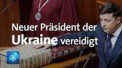 Selenskij als neuer Präsident der Ukraine vereidigt - kündigt Neuwahlen an
