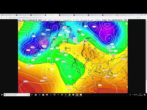 Five Day Weather Forecast: 21st To 26th November 2018