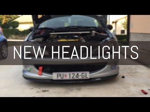 HOW TO INSTALL new HEADLIGHTS! Peugeot 206 (Ugradili Smo Nove Farove!!!)