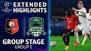 Rennes vs. Krasnodar: Extended Highlights   UCL on CBS