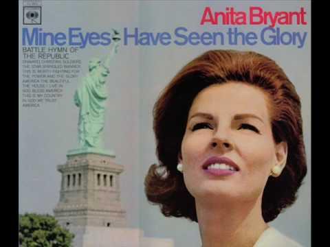 Anita Bryant sings Battle Hymn Of The Republic + America The Beautiful