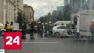 Два человека погибли пятеро пострадали в ДТП на Кутузовском проспекте   Россия 24