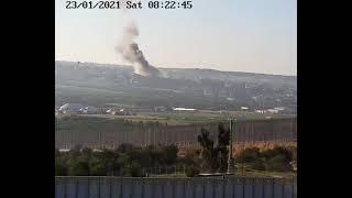 لحظة الإنفجار الكبير في بيت حانون شمال قطاع غزة