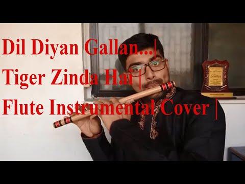 Dil diyan gallan   Tiger Zinda Hai   Flute instrumental cover   Atif Aslam  
