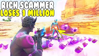 Rich Scammer Loses 1 Million NEW Bright Core! 😱 (Scammer Gets Scammed) Fortnite Save The World