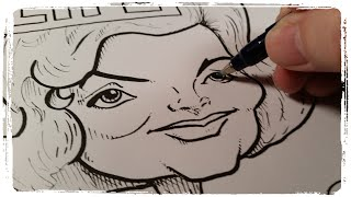 #‎IC‬ Women's History Hop Jacqueline Kennedy Onassis Pen and Ink