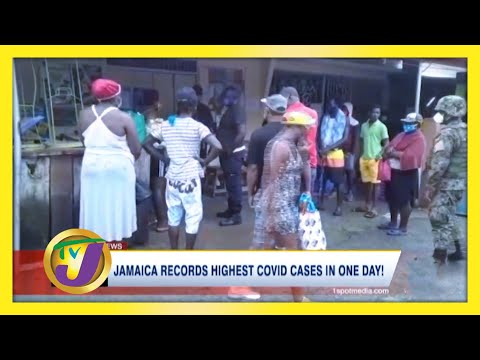 Jamaica Records Highest Covid Cases in 1 Day! | TVJ News