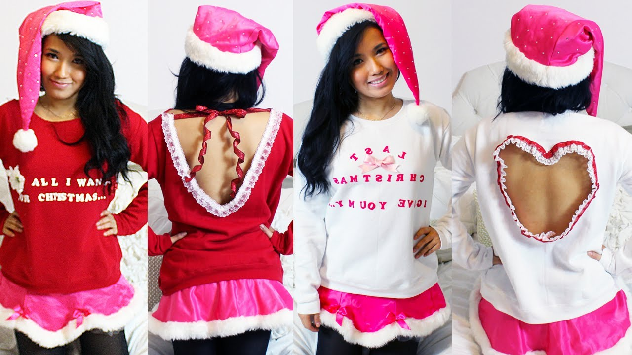diy 2 styles of ugly christmas sweaters 2012