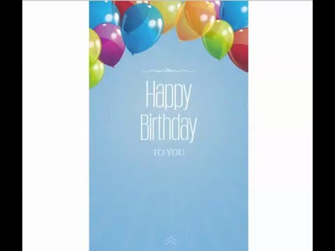 Free Mobile Birthday Cards Youtube