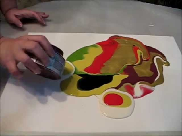 Poured  Paint Technique...Sooooo COOL!