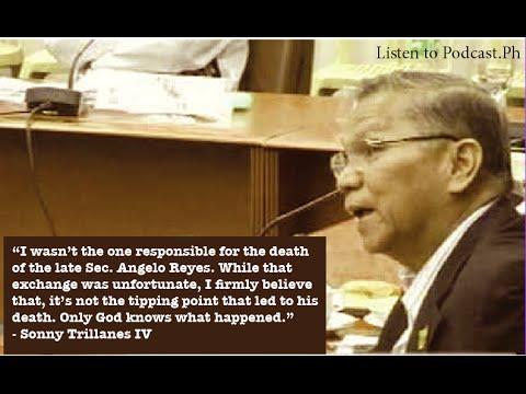 Antonio Trillanes on Angelo Reyes' death
