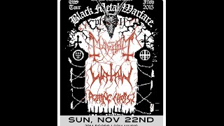 Watain ANGELRAPE Black Metal Warfare tour Pittsburgh